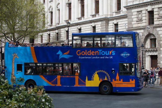 Golden Tours Hop on Hop off London Bus Tour 24 Hours Tickets